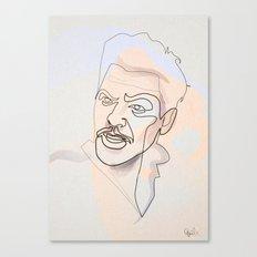 One line Ulysses Everett McGil Canvas Print