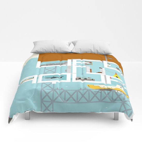 LIFE IN AQUA Comforters