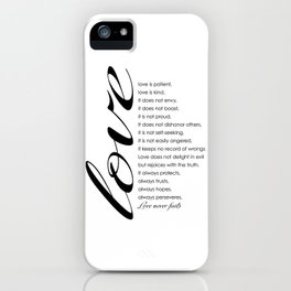 Love words iPhone Case
