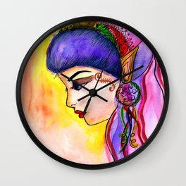 Gypsy Girl Wall Clock