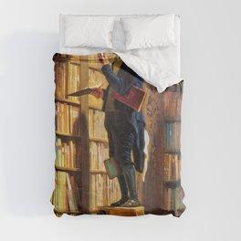 12,000pixel-500dpi - The Bookworm - Carl Spitzweg Duvet Cover
