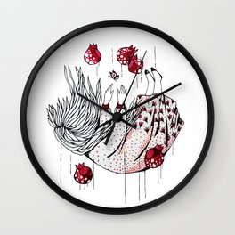 Dreaming pomegranate Wall Clock