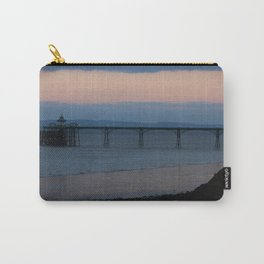 Clevedon Pier Sunset Carry-All Pouch