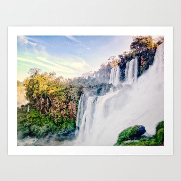 Cascading Iguazu Falls Fine Art Print Art Print