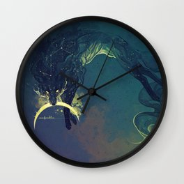 The Fox who talked the Moon and the Stars Wall Clock