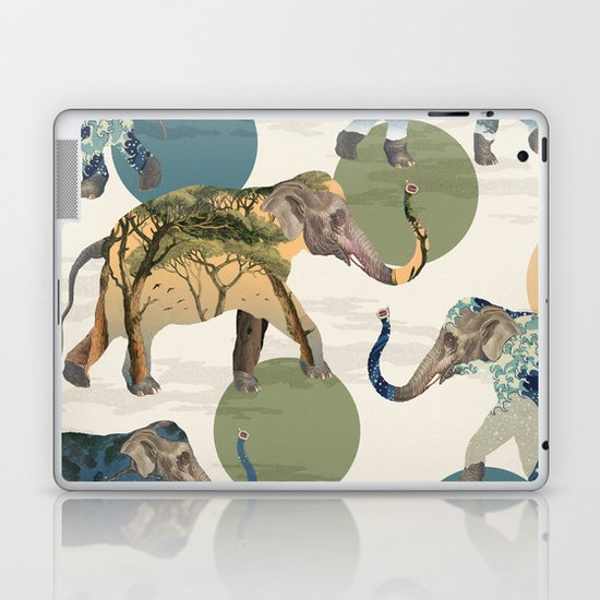 Elephant Polka Laptop & iPad Skin