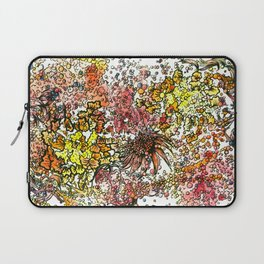 Red Yellow Orange flower watercolor abstraction Laptop Sleeve