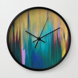 Green & Gold Abstract Wall Clock