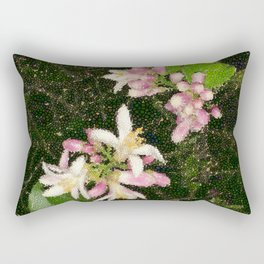 Bubbly Orange Blossoms Rectangular Pillow