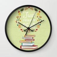 read Wall Clocks featuring Read by Kakel