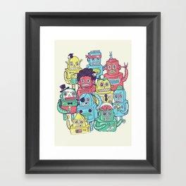 Robot's can't Smile Framed Art Print