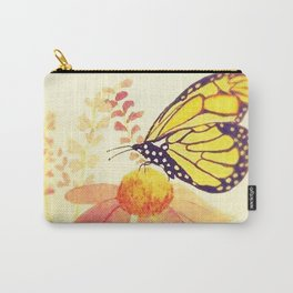 Butterfly on Coneflower in Summer by Twelve Little Tales Carry-All Pouch