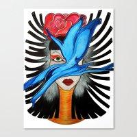 goddess Canvas Prints featuring Goddess by Miss Midnight