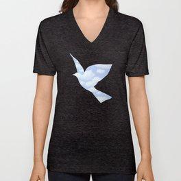 Surrealism Bird Clairvoyance Unisex V-Neck