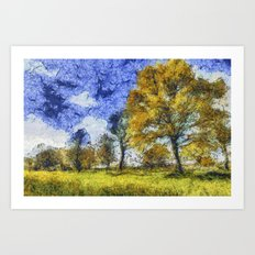 Summer Farm Van Gogh Art Print