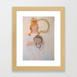 Best Beloved: Athena and Medusa Framed Art Print