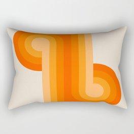 Creamsicle Knots Rectangular Pillow
