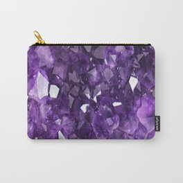 FEBRUARY PURPLE AMETHYST CRYSTALS BIRTHSTONE Carry-All Pouch