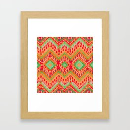 itzel - candy + lime Framed Art Print