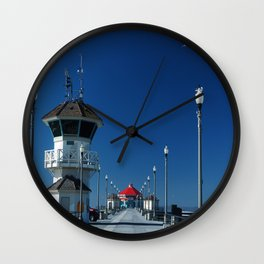 Huntington Beach Pier Wall Clock