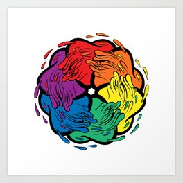 Pride Love Movement Art Print