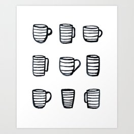 Tiny Cups Art Print