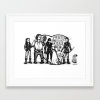 princess bride Framed Art Prints featuring Princess Bride by SoNieuf