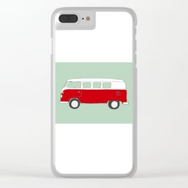 Red Campervan Clear iPhone Case