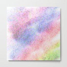 Glitter dust Metal Print