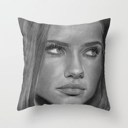 Adriana Lima Throw Pillow
