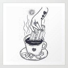I Like My Coffee With a Taste of Good Music Art Print