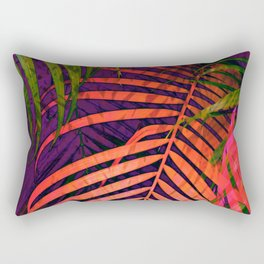 COLORFUL TROPICAL LEAVES no3 Rectangular Pillow
