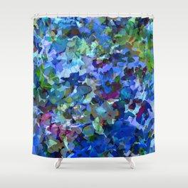 Blue Violet Woods Shower Curtain