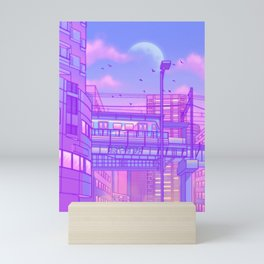 Cosmic City Train Mini Art Print
