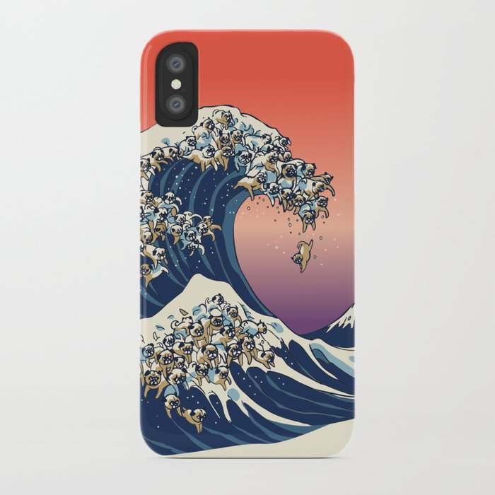 release date e46c8 444e1 The Great Wave of Pug iPhone Case by huebucket