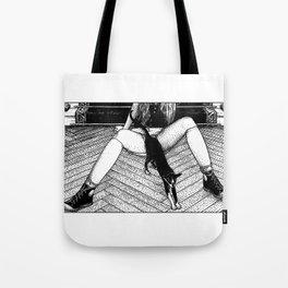 asc 884 - Le chat (Queue choisir V) Tote Bag