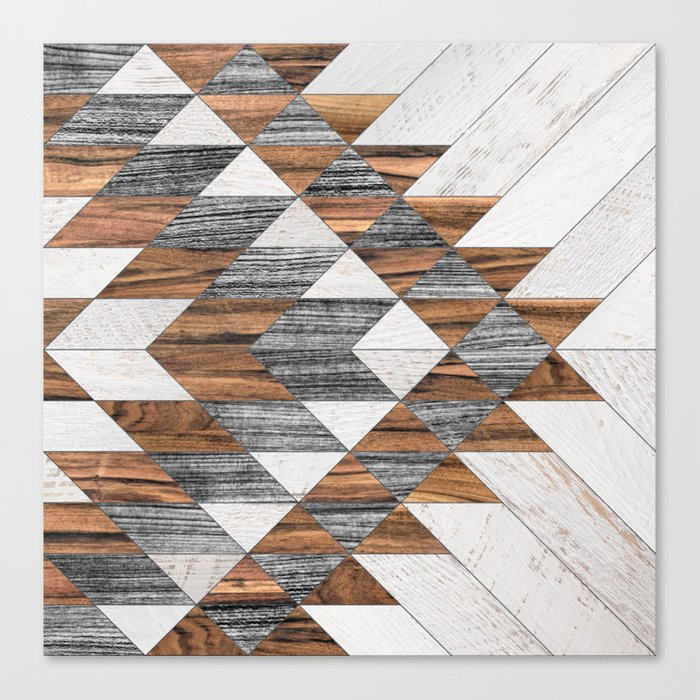 Urban Tribal Pattern No.12 - Aztec - Wood Leinwanddruck