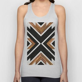 Urban Tribal Pattern 1 - Concrete and Wood Unisex Tank Top