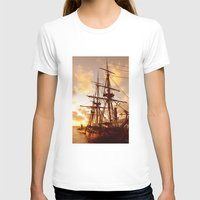 pirate ship T-shirts featuring PIRATE SHIP :) by Teresa Chipperfield Studios