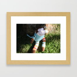 Happy Monkey 1 Framed Art Print