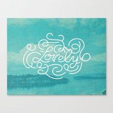 Lovely Canvas Print