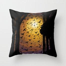 Flock Together Throw Pillow