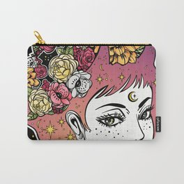 Floral Venus Carry-All Pouch