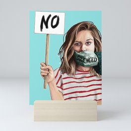 No silenced Mini Art Print