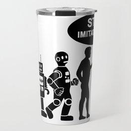Funny robot evolution Travel Mug