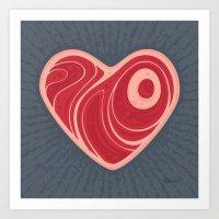 Meat Heart Art Print