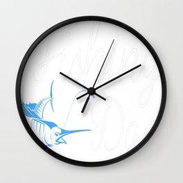 FISHING DAD Tee Wall Clock