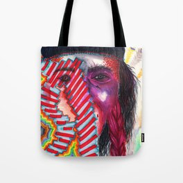 Psychedelic Woman Tote Bag