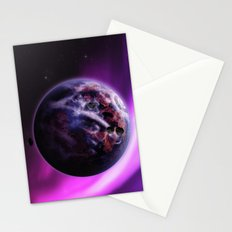 Deep Purple Space Stationery Cards