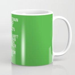 There's a train at 4:04 - Tongue Twisters Coffee Mug